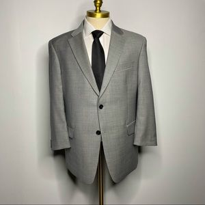 Tommy Hilfiger Suit - Solid Gray Classic 42S 36W
